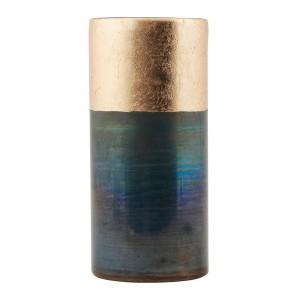 vase house doctor lost Ds0801 verre bleu doré