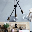 House doctor lampe suspension deco vintage molecular Cb0811