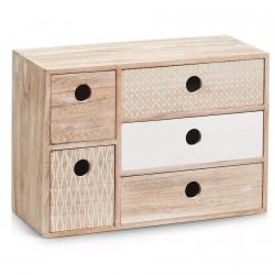 Petit meuble bloc de rangement 5 tiroirs vintage en bois Nordic Zeller