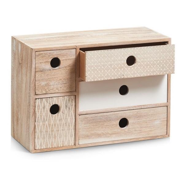 Petit tiroir en bois homeezy for Petit meuble 4 tiroirs