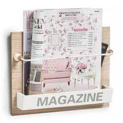 Zeller Nordic 15117 Wood Wall Magazine Rack