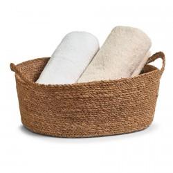 Zeller 15151 Natural Seagrass Basket with 2 handles
