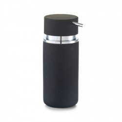 Zeller Ceramic Soap Dispenser, black