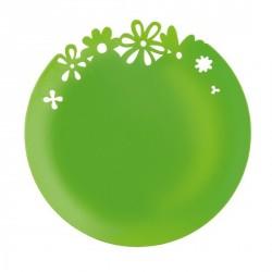 ASSIETTE DECO ALICE vert