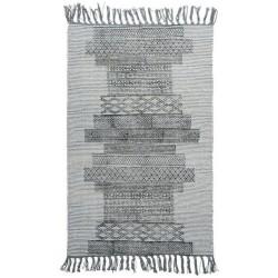 Tapis descente de lit gris coton House Doctor Karma 60 x 90 cm