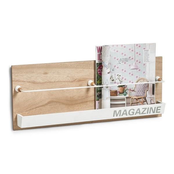 Porte magazine mural en bois deco zeller 15118 - Porte magazine mural ...