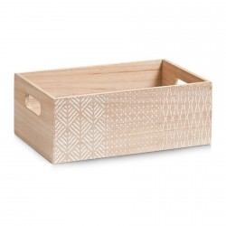caisse de rangement en bois decorative nordic zeller 15108