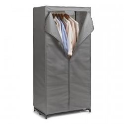 armoire penderie en tissu gris zeller 14617