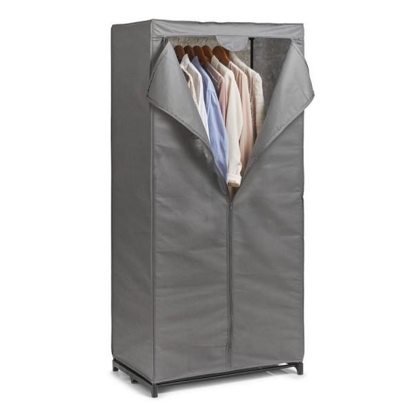 armoire penderie en tissu gris zeller 14617. Black Bedroom Furniture Sets. Home Design Ideas