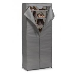 meuble armoire rangement a chaussures en tissu gris 7 etageres zeller 14616
