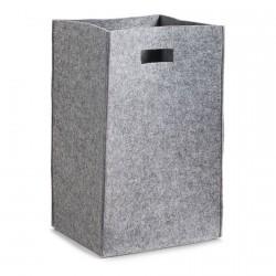 panier a linge en feutre gris design zeller 14265