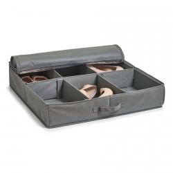 housse plate rangement chaussures sous le lit tissu gris zeller 14610
