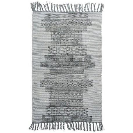 House Doctor Karma tapis déco vintage gris 90 x 200 cm