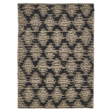 House Doctor Harlequin petit tapis en jute et caoutchouc 50 x 70 cm