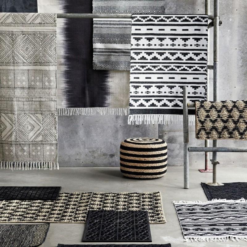 house doctor harlequin petit tapis en jute et caoutchouc rm0077 50x70. Black Bedroom Furniture Sets. Home Design Ideas