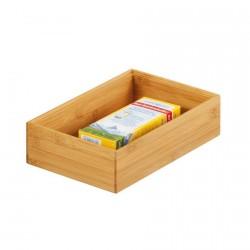 Boîte de rangement rectangulaire en bois bambou Zeller 23 x 15 x 7 cm