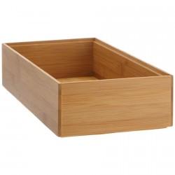 boite rectangulaire en bois de bambou 30 x 15 x 7 cm zeller 13333