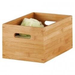 caisse de rangement en bois de bambou 30 x 20 x 14 cm zeller 13340