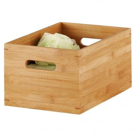 Caisse de rangement en bois de bambou Zeller 30 x 20 x 14 cm