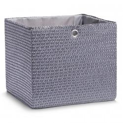 Panier carré textile tressé gris anthracite Zeller 34 x 31.5 x 29 cm