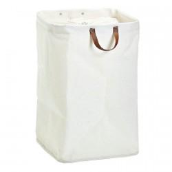 panier a linge coton blanc zeller 14255