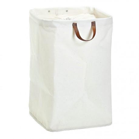 Panier à linge coton blanc Zeller