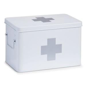 boite a pharmacie en metal blanc zeller 18119