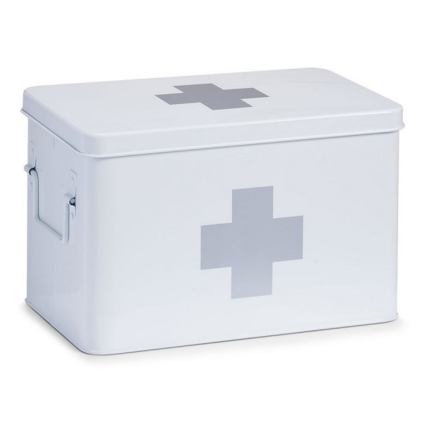 Boite a pharmacie en metal blanc zeller 18119 - Boite a pharmacie design ...