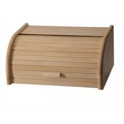 Boîte à pain en bois de hêtre naturel Zeller 40 x 28 x 18 cm