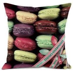 Coussin exquise macarons bonjour mon coussin 35 x 35