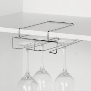 Porte-verres suspendu gain de place en métal Zeller