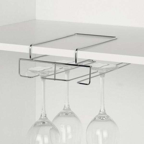 Porte verres suspendu gain de place en metal zeller 24844 - Porte verres suspendu ...