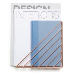porte revues mural etagere murale en metal cuivre umbra strum 1004460 880. Black Bedroom Furniture Sets. Home Design Ideas
