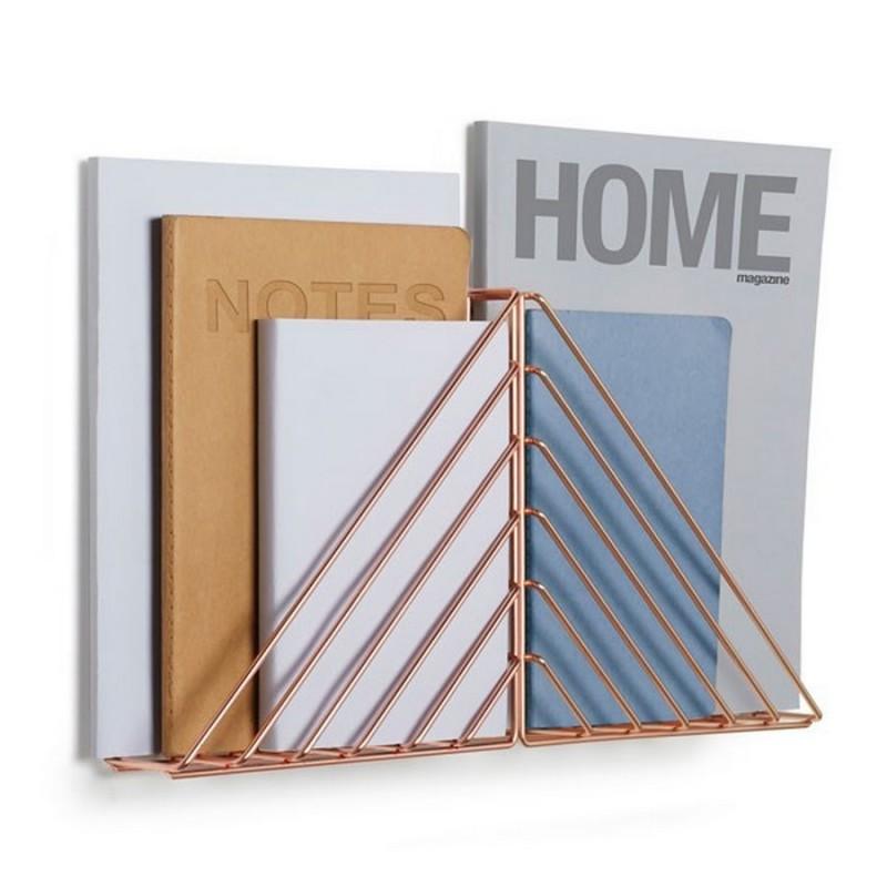 porte revues mural etagere murale en metal cuivre umbra. Black Bedroom Furniture Sets. Home Design Ideas