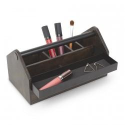 boite rangement maquillage en bois caisse a outils umbra toto box 290240-048