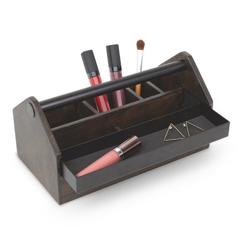 boite rangement maquillage en bois caisse a outils umbra toto box 290240 048. Black Bedroom Furniture Sets. Home Design Ideas