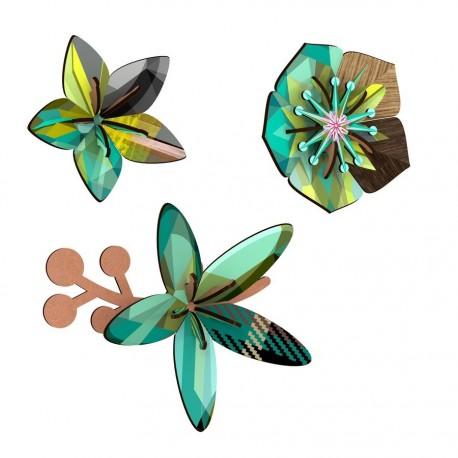 fleurs murales miho winter garden (set de 3)