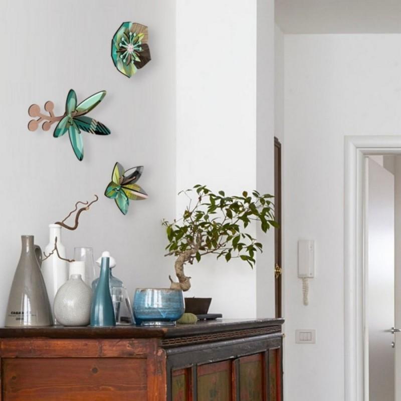 fleurs murales miho winter garden set de 3. Black Bedroom Furniture Sets. Home Design Ideas