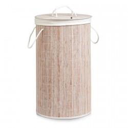 panier a linge en bois de bambou zeller 13409