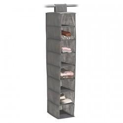 etagere de rangement en tissu a suspendre 8 casiers zeller 14614