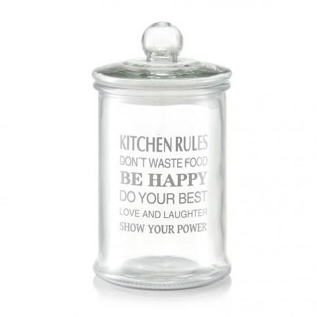Bocal de conservation en verre décoratif Zeller Kitchen Rules 2.4 Litres