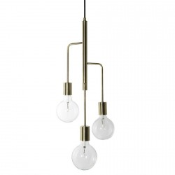 Suspension design métal laiton antique 3 ampoules Frandsen Cool
