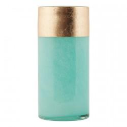 Vase en verre avec bande dorée House Doctor Lost aqua