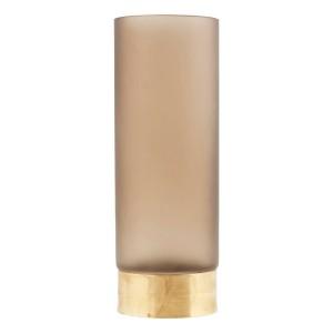 vase decoratif en verre bande en or house doctor lost Ds0810 marron clair