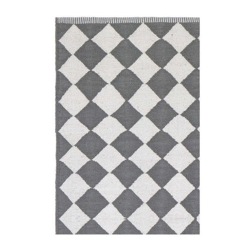 tapis losanges gris et blanc liv interior diamond 55 x 120 cm. Black Bedroom Furniture Sets. Home Design Ideas