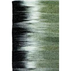 Tapis Tie Dye gris et khaki en laine Liv Interior 55 x 120 cm