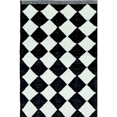 tapis monochrome losanges liv interior diamond 55 x 120 cm