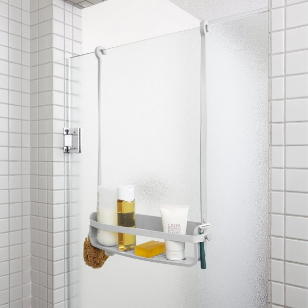 Etagere de douche suspendue grise design umbra flex single 023475 918 - Etagere suspendue design ...