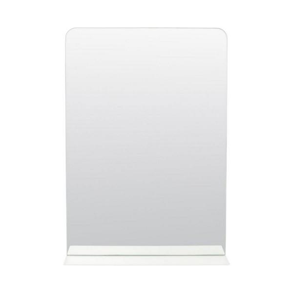 miroir mural avec etagere metal blanc house doctor room pj0080. Black Bedroom Furniture Sets. Home Design Ideas