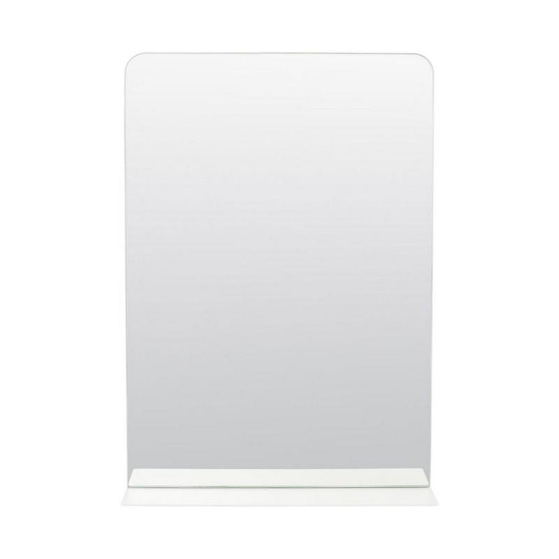 Miroir mural avec etagere metal blanc house doctor room pj0080 for Miroir mural metal